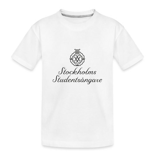 SSSF logo / emblem + namn (svart) - Ekologisk premium-T-shirt tonåring