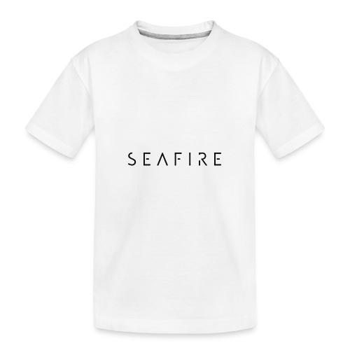 seafire logo BLACK - Teenager premium biologisch T-shirt