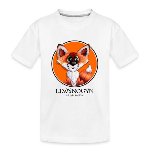 llwynogyn - a little red fox (black) - Teinien premium luomu-t-paita