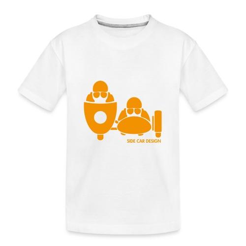 BASSET LOGO orange - T-shirt bio Premium Ado