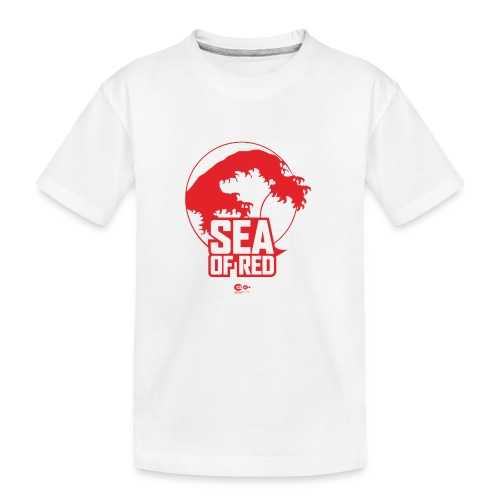Sea of red logo - red - Teenager Premium Organic T-Shirt