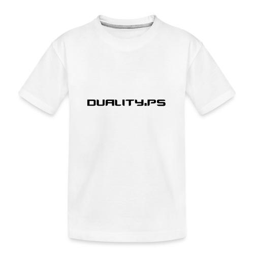 dualitypstext - Ekologisk premium-T-shirt tonåring
