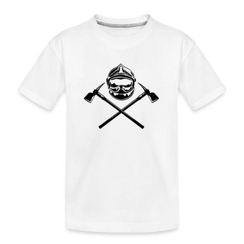 casque_pompier_deux haches - T-shirt bio Premium Ado