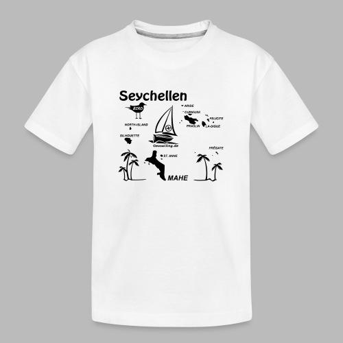Seychellen Insel Crewshirt Mahe etc. - Teenager Premium Bio T-Shirt