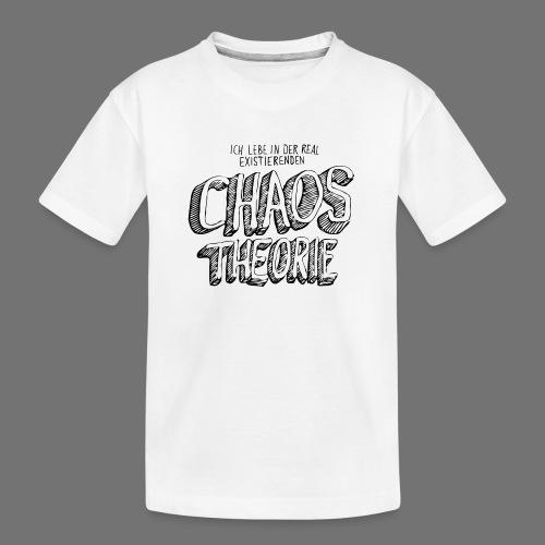 Chaos Theory (musta) - Teinien premium luomu-t-paita