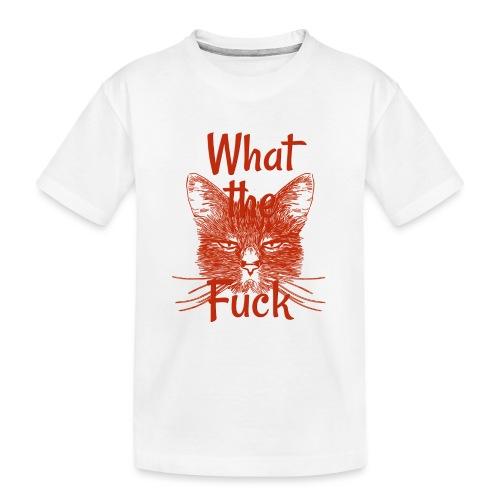 Katze mürrisch - Teenager Premium Bio T-Shirt