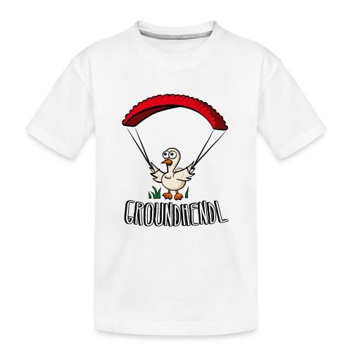 Groundhendl Paragliding Huhn - Teenager Premium Bio T-Shirt