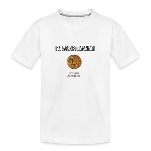 I'm a cryptomaniac - Maglietta ecologica premium per ragazzi
