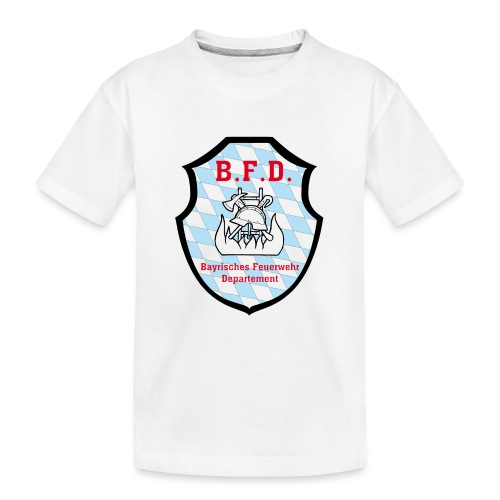 Inoffizielles bayrisches Feuerwehrabzeichen - Teenager Premium Bio T-Shirt