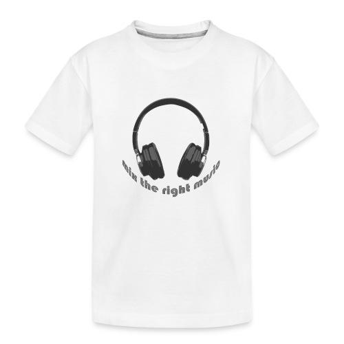 DJ Mix the right music, headphone - Teenager premium biologisch T-shirt