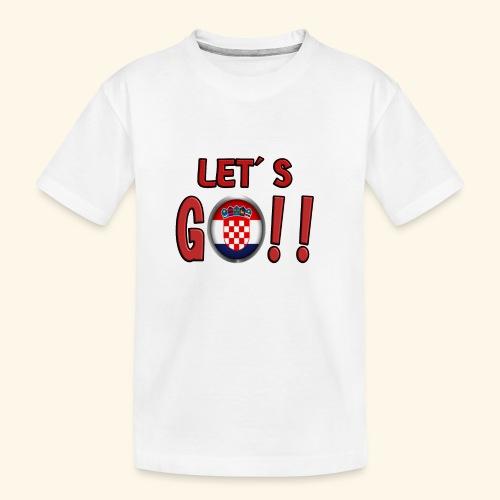 Go Croatia - Maglietta ecologica premium per ragazzi