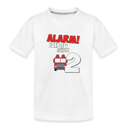 Feuerwehrauto 2. Geburtstag Jungen 2 Jahre - Teenager Premium Bio T-Shirt