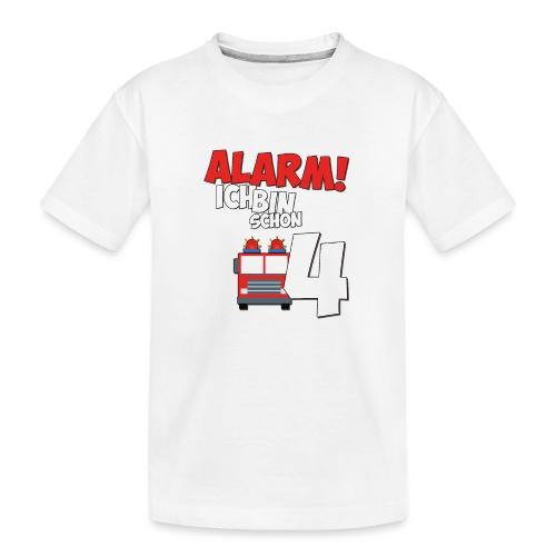 Feuerwehrauto 4. Geburtstag Jungen 4 Jahre - Teenager Premium Bio T-Shirt