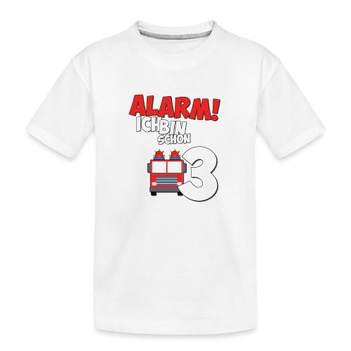 Feuerwehrauto 3. Geburtstag Jungen 3 Jahre - Teenager Premium Bio T-Shirt