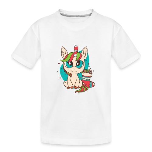 Unicorn Christmas - Teenager Premium Bio T-Shirt