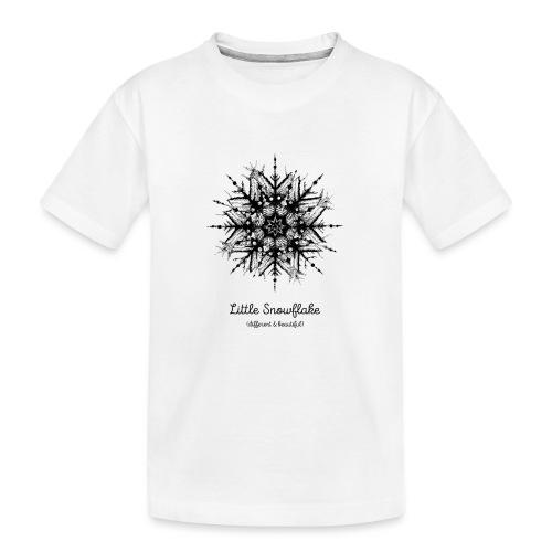 Schneeflocke Weihnachten Liebe Geschenk Kinder - Teenager Premium Bio T-Shirt