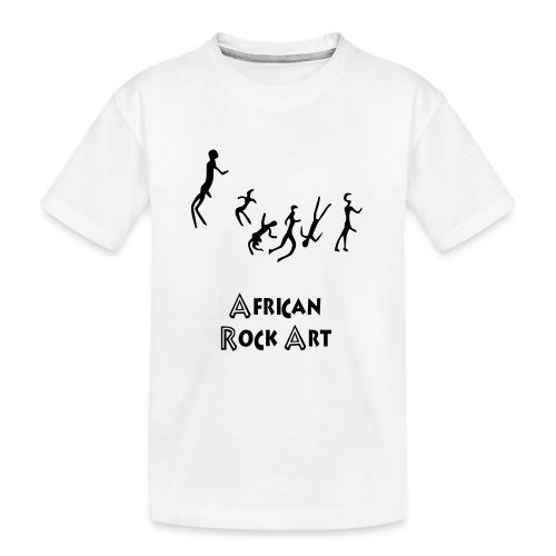 African Rock Art - Teinien premium luomu-t-paita