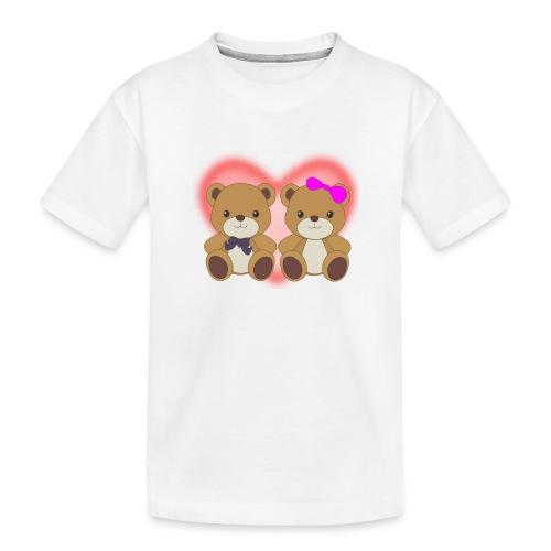 Orsetti con cuore - Maglietta ecologica premium per ragazzi
