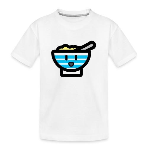 Cute Breakfast Bowl - Teenager Premium Organic T-Shirt