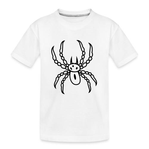 Spinne schwarz - Teenager Premium Bio T-Shirt