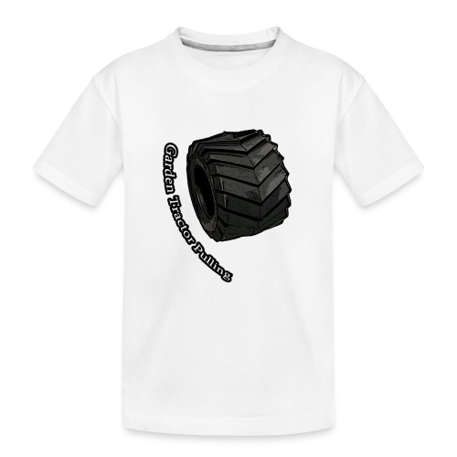 Børne Tractor pulling - Teenager premium T-shirt økologisk