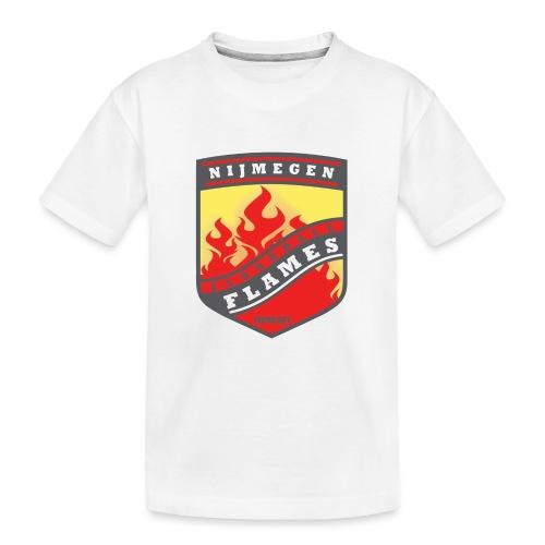 Hoodie Black - Red inner contrast - Teenager premium biologisch T-shirt