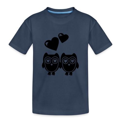 verliebte Eulen - Teenager Premium Bio T-Shirt