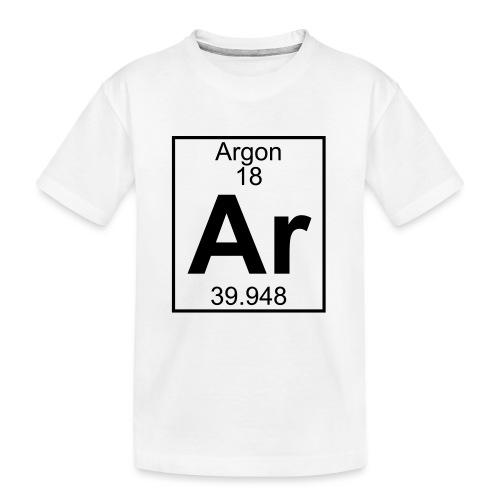 Argon (Ar) (element 18) - Teenager Premium Organic T-Shirt