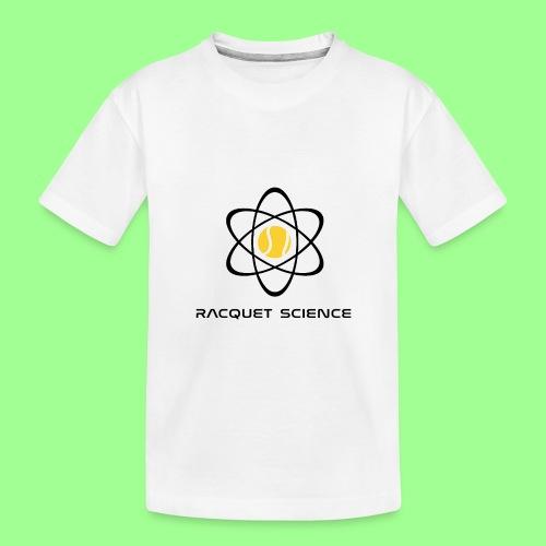 RACQUET SCIENCE - Ekologiczna koszulka młodzieżowa Premium