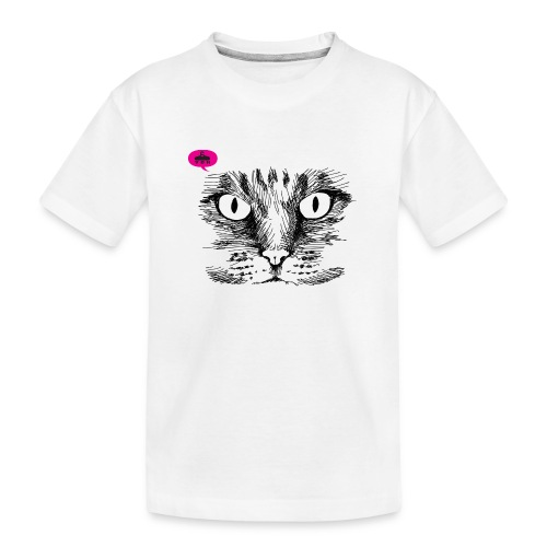 kattegezicht vdh - Teenager premium biologisch T-shirt