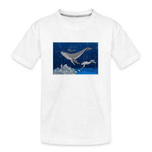 Ocean cleaning service. bluecontest - Teenager premium T-shirt økologisk