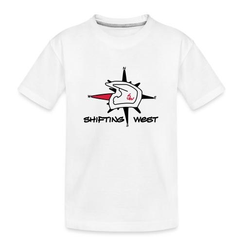 Shifting West Logo vector - Teenager premium biologisch T-shirt