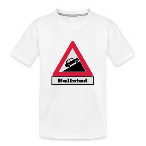 brattv ballstad a png - Premium økologisk T-skjorte for tenåringer