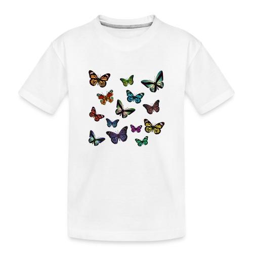 Butterflies flying - Ekologisk premium-T-shirt tonåring