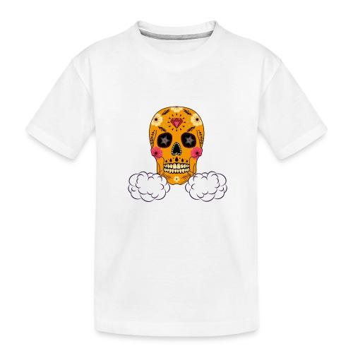 skul orange png - T-shirt bio Premium Ado