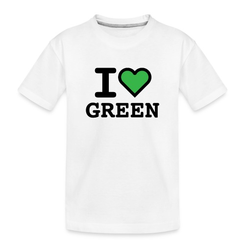 i-love-green-2.png - Maglietta ecologica premium per ragazzi