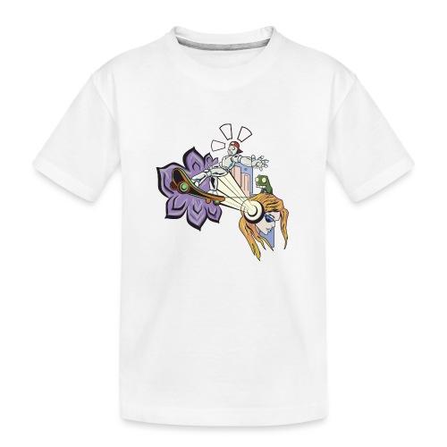 Spring Doodle - Teenager premium biologisch T-shirt