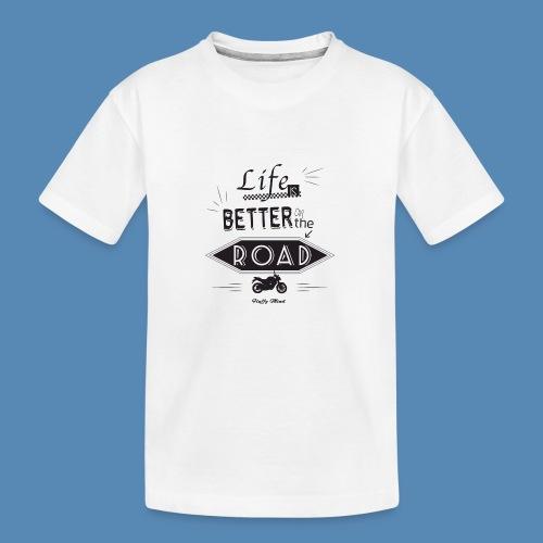 Moto - Life is better on the road - T-shirt bio Premium Ado