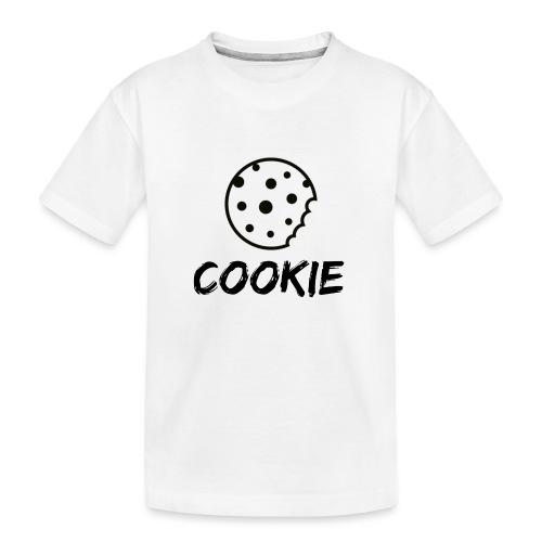 La galleta _-_ Negro _-_ galleta - Camiseta orgánica premium adolescente