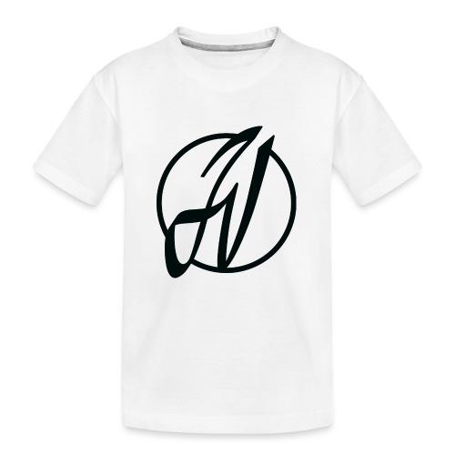 JV Guitars - logo noir - T-shirt bio Premium Ado