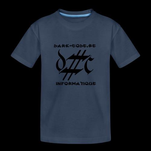 Dark-Code Black Gothic Logo - T-shirt bio Premium Ado