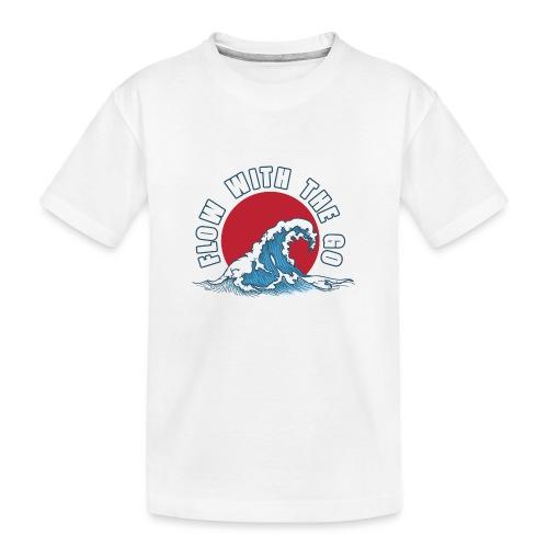 flow with the go - Ekologiczna koszulka młodzieżowa Premium