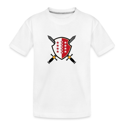 Valais avec épées - Teenager Premium Bio T-Shirt