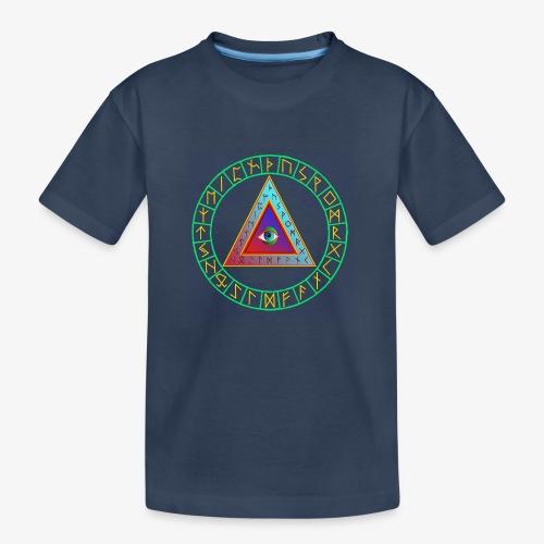 Runendreieck im Kreis - Teenager Premium Bio T-Shirt