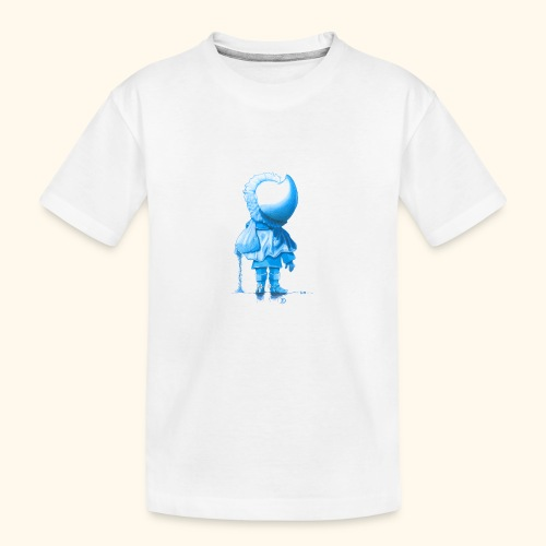 Unser Sandmännchen von hinten blau - Teenager Premium Bio T-Shirt