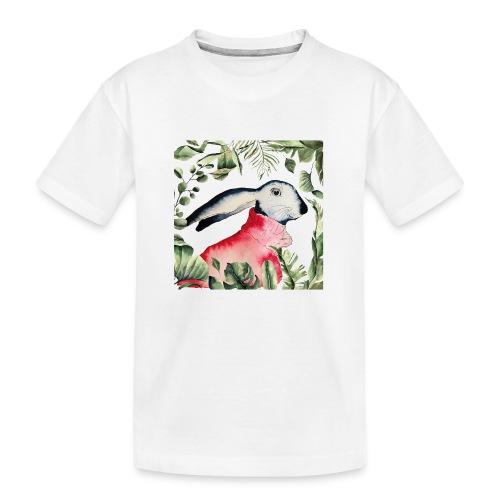 Osterhase im Dschungel - Teenager Premium Bio T-Shirt