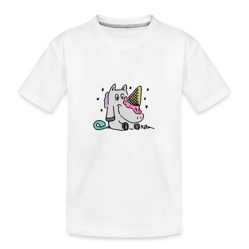 Eis Einhorn - Teenager Premium Bio T-Shirt