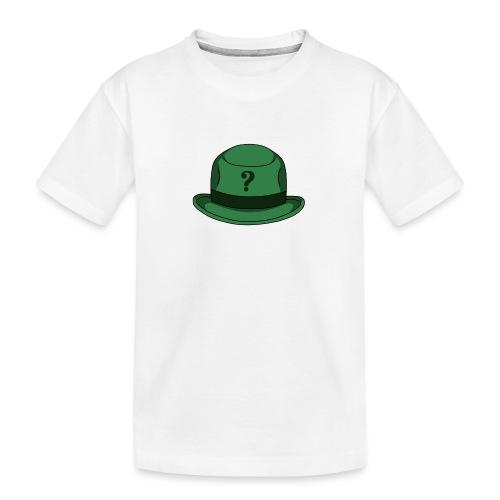 Grüner Rätsel Hut Riddler - Teenager Premium Bio T-Shirt