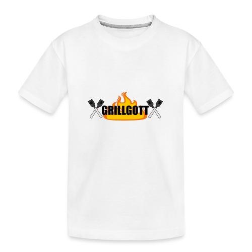 Grillgott Meister des Grillens - Teenager Premium Bio T-Shirt