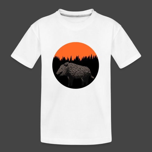 Sunset Boar - Teenager Premium Bio T-Shirt